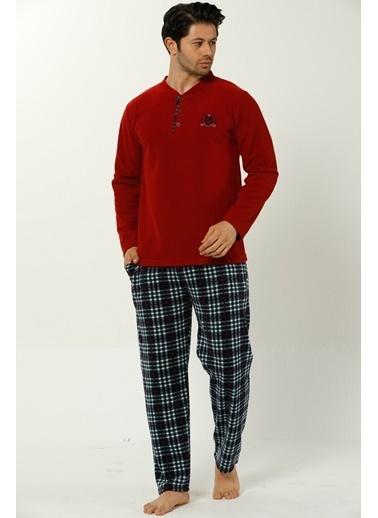 Akbeniz Welsoft Erkek Pijama Takım Bordo